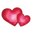 Watercolor heart Design element vector image