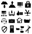 web hosting icons set vector image