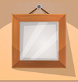 cartoon wood frame vector image