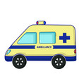 ambulance car icon cartoon style vector image
