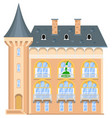princess on the balcony of a medieval castle vector image
