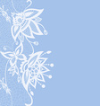 Abstract lace with elements of butterflies and vector image vector image