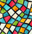 colored mosaic seamless pattern with grunge effect vector image