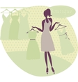 girl at a boutique vector image vector image