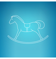 Rocking Horse on a Blue Background vector image