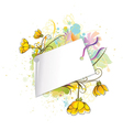 floral with shopping tag vector image vector image