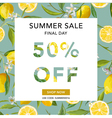 Summer Sale Banner Sale Background Big sale vector image