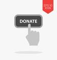 Donate concept icon Flat design gray color symbol vector image