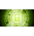 Abstract green tech security background vector image