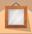 cartoon wood frame vector image