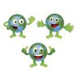 globe world cartoon character vector image