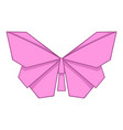 origami pink butterfly icon cartoon style vector image