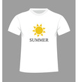 T-shirt design with sun vector image