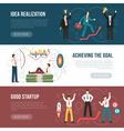 Successful Startup Flat Horizontal Banners Set vector image