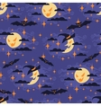 Halloween seamless pattern with moon vector image