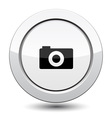 Button with camera vector image vector image