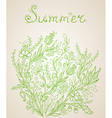 Green summer background vector image vector image