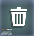 Bin icon On the blue-green abstract background vector image