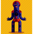 Modernistic geometric cubism style avatar i vector image