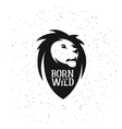 Lion head silhouette with quote on it Born to be vector image vector image