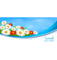 Nature banner vector image