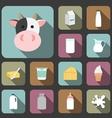 milk icon vector image