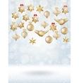 Christmas bokeh poster with Tree EPS 10 vector image