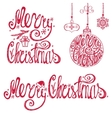 Christmas typography letteringcard elements set vector image