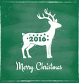 deer chalk 2016 green vector image