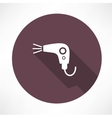 hairdryer icon vector image