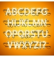 Glowing Neon Honey Yellow Alphabet vector image