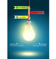 Creative Template with light bulb idea vector image
