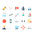 Sports Colored Icons 5 vector image