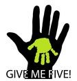 Give me five vector image vector image