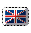 Sticker flag united kingdom classic british icon vector image
