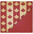 canadian flag symbols vintage background vector image