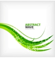 Modern green eco swirl abstraction vector image vector image