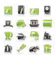 kitchen appliances and equipment icons vector image vector image