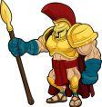 Spartan gladiator vector image