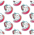 Cartoon tooth and brush seamless pattern vector image vector image