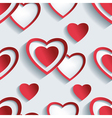 Seamless pattern grey 3d hearts for Day Valentine vector image vector image