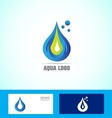 Water drop droplet logo icon vector image