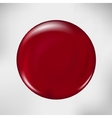 Realistic blood drop of red vector image