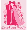 Ornate Bride and Groom Silhouette vector image vector image