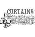 bead curtain text word cloud concept vector image