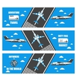flat banners airport vector image