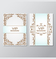 invitation background flyer style design template vector image