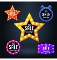 Set of sale banner and emblem vector image