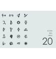 Set of zika virus icons vector image