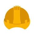 yellow construction safety helmet icon vector image
